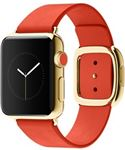 Watch Edition, 18 Carat Yellow Gold, Bright Red Modern Buckle, 38mm, A