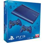PS3 500GB Blue Super Slim +2Pads Boxed