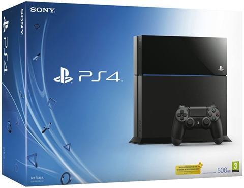 Playstation 4 Console, 500GB Black, Boxed