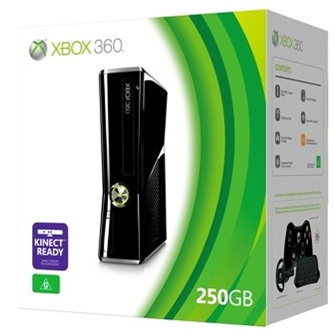 Xbox Slim 4gb vs 250gb Xbox 360s Slim 250gb Boxed